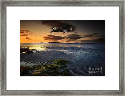 B25 Mitchell Bomber Framed Print by Nichola Denny