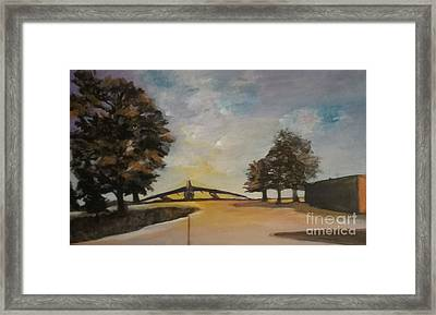 Framed Print featuring the painting B52 by Saundra Johnson