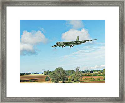 Framed Print featuring the digital art B52 Stratofortress -2 by Paul Gulliver