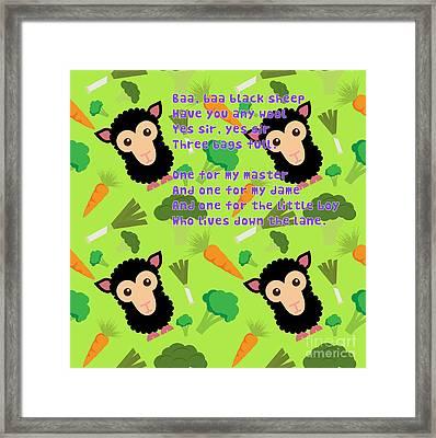 Baa, Baa Black Sheep Framed Print by Humorous Quotes