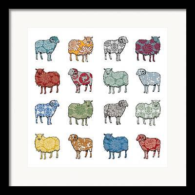 Sheep Digital Art Framed Prints