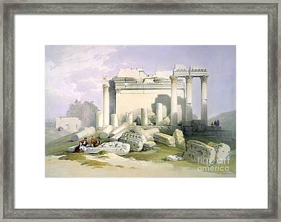 Baalbek, 1839 Framed Print by Science Source
