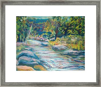 Babbling Brook Framed Print by Richalyn Marquez