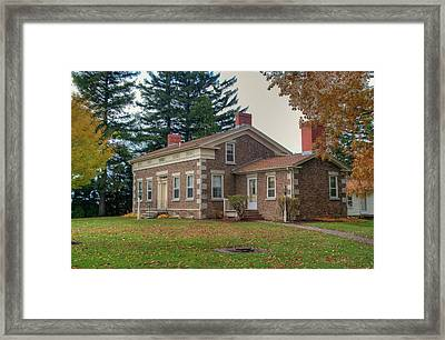 Framed Print featuring the photograph Babcock House Autumn 13937 by Guy Whiteley