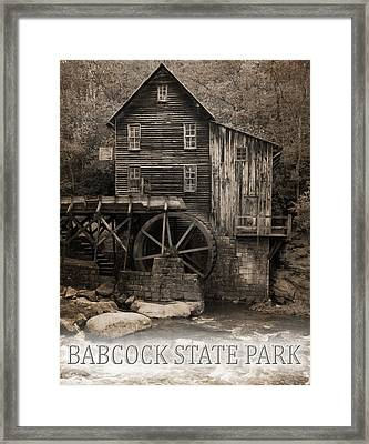 Babcock State Park Poster Framed Print by Dan Sproul