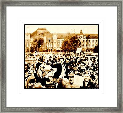 Babe Ruth 1934 Japan Tour Framed Print