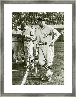 Babe Ruth All Stars Framed Print by Jon Neidert