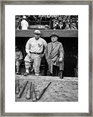 Babe Ruth And John Mcgraw Framed Print by Mountain Dreams