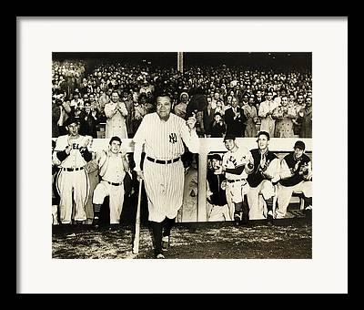 Babe Ruth Statistics Photographs Framed Prints