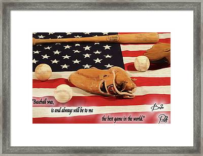 Babe Ruth Baseball Quote Framed Print by Dan Sproul