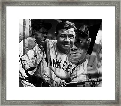 Babe Ruth Collection Framed Print by Marvin Blaine