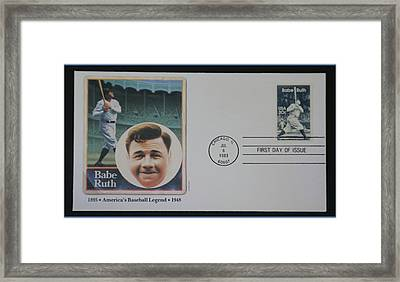 Babe Ruth First Day Issue Framed Print