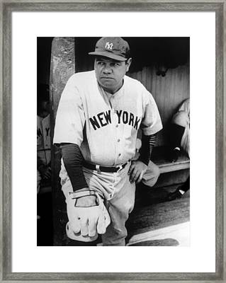 Babe Ruth In The New York Yankees Framed Print