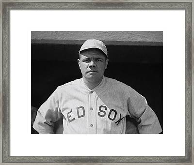 Babe Ruth Painterly C. 1915 Framed Print by Daniel Hagerman