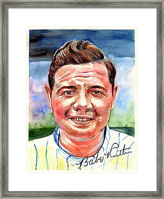 Babe Ruth Portrait Framed Print
