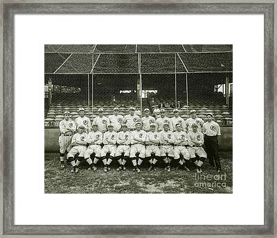 Babe Ruth Providence Grays Team Photo Framed Print