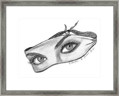 Babemask Framed Print