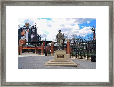 Framed Print featuring the photograph Babes Dream - Camden Yards Baltimore by Bill Cannon