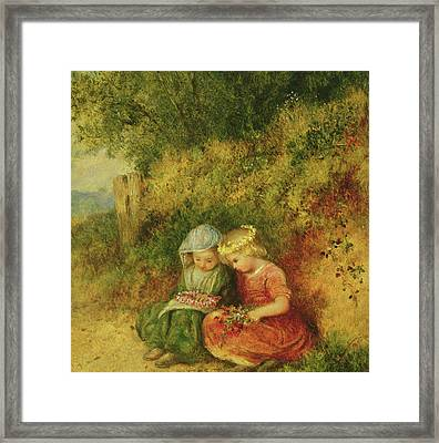 Babes In The Wood Framed Print by John H Dell