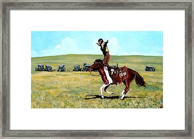 Babette Rides Again Framed Print by Tom Roderick