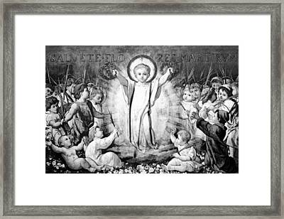Babies Angels Framed Print by Munir Alawi