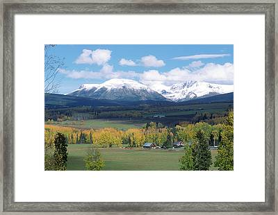 Babine Range-fall View Framed Print