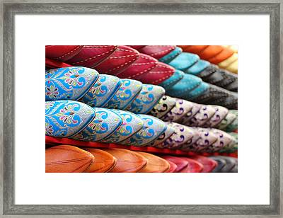 Framed Print featuring the photograph Babouches by Ramona Johnston