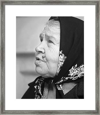 Babushka Zagorsk Russia Framed Print by Richard Singleton