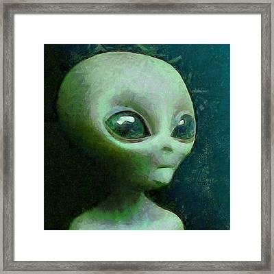 Baby Alien Framed Print by Raphael Terra