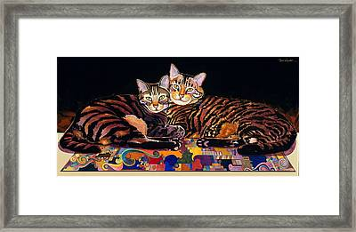Baby And Critter Framed Print by Bob Coonts