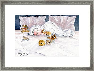 Baby And Friends Framed Print