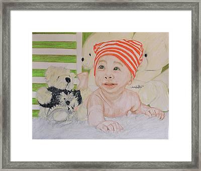 Baby And Stuff Bears Framed Print