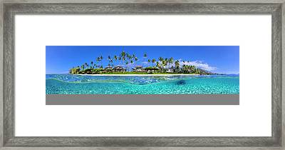 Baby Beach Above And Below Framed Print