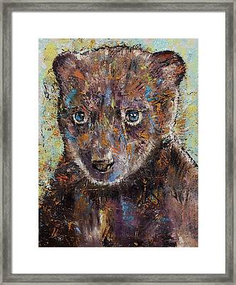 Baby Bear Framed Print by Michael Creese