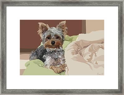Baby Bedhead Framed Print by Kris Hackleman