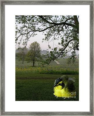 Baby Bird Framed Print by Karen Musick