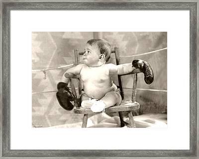 Baby Boxer Framed Print