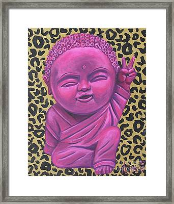 Framed Print featuring the painting Baby Buddha 2 by Ashley Price