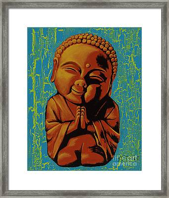 Framed Print featuring the painting Baby Buddha by Ashley Price