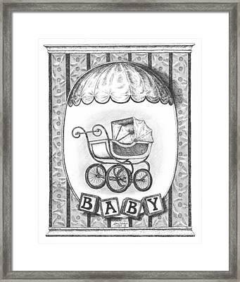 Baby Carriage Framed Print by Adam Zebediah Joseph