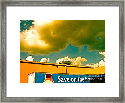 Baby Cloud Truck Framed Print by Chuck Taylor