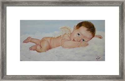 Baby Cupid Framed Print by Joni McPherson