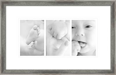 Baby Details Framed Print