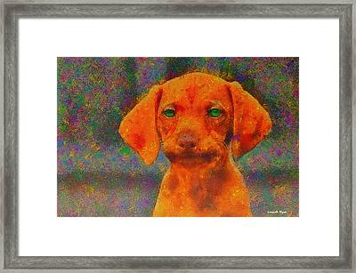 Baby Dog - Da Framed Print by Leonardo Digenio