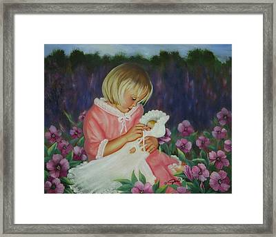 Framed Print featuring the painting Baby  Doll by Joni McPherson