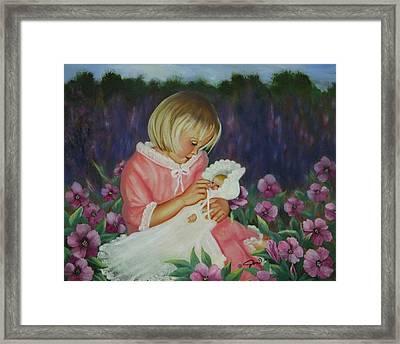 Baby  Doll Framed Print by Joni McPherson