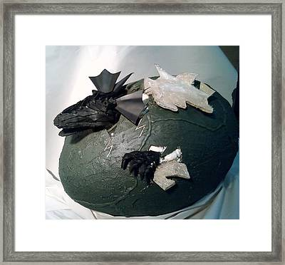 Baby Dragon Hatching Framed Print by Jeff Orebaugh