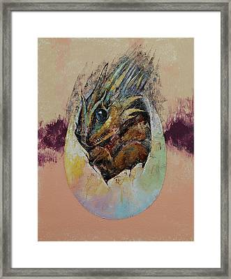 Baby Dragon Framed Print by Michael Creese