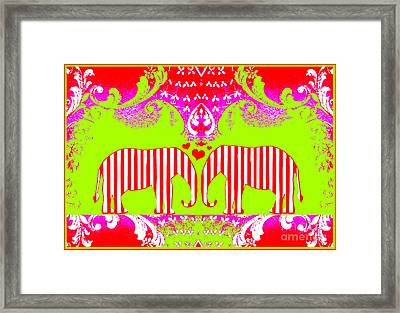 Baby Elephant Love  Framed Print by WALL ART and HOME DECOR