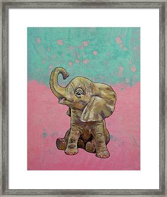 Baby Elephant Framed Print by Michael Creese